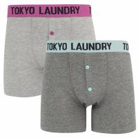 Tokyo Laundry Frinton 2er Pack Herren Boxershorts 1P10926 radiant-turq