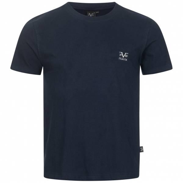 19V69 Versace 1969 Basic Hombre Camiseta VI20SS0007A azul marino
