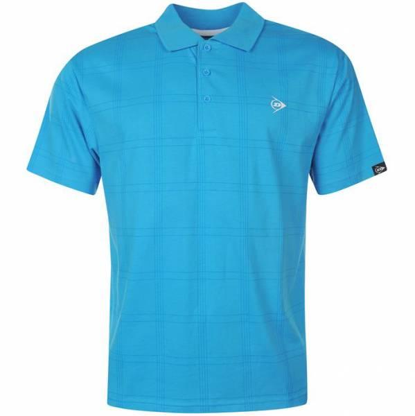 Dunlop Golf Tour Herren Polo-Shirt kariert aqua