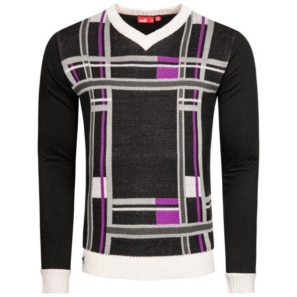 Herren PUMA  Herren Crofter V-Neck Sweatshirt Pullover 548999-01 schwarz | 04048147448596