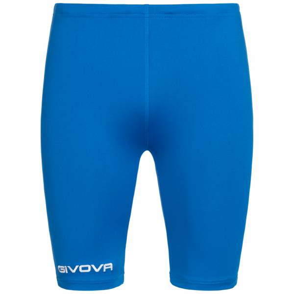 Givova Bermuda Skin Compression Tights Short cycliste bleu