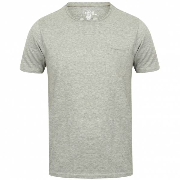 Tokyo Laundry Zella Cotton Pocket Herren T-Shirt 1C10284 Light Grey