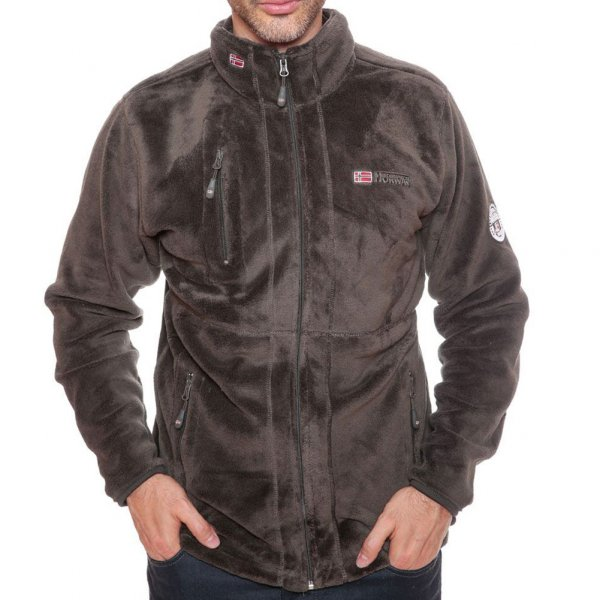 Geographical Norway Herren Fleece Jacke Upload WN005H Braun