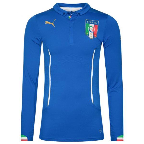 Italien PUMA Herren Langarm Heim Trikot Player Issue 744197-01