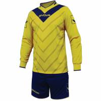 Givova Soccer Set Torwatrikot con Short Kit Sanchez giallo / blu scuro