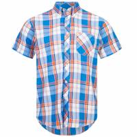 BRUTUS JEANS Kurzarm Hemd 100010 Orange Check