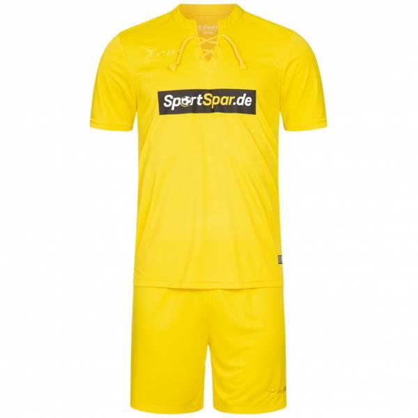 Zeus x Sportspar.de Legend Fußball Set Trikot mit Shorts gelb