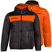 Zeus Giubbotto Apollo 2en1 Hommes Veste réversible noir orange