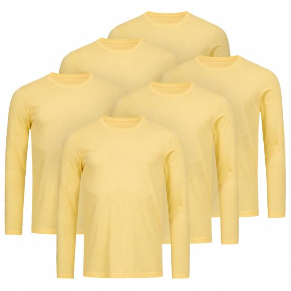 RUSSELL Longsleeve Tee 6er-Pack Herren Shirt 0R167M0-Yellow-Marl