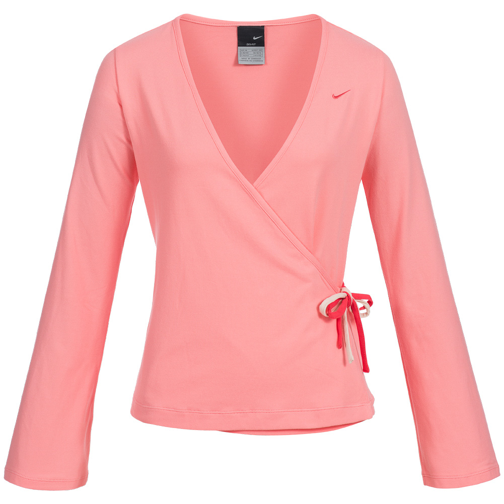 892da78b92358 Preview  Nike Womens Yoga Shirt Fitness Top Cover Up Top 119460-810 ...