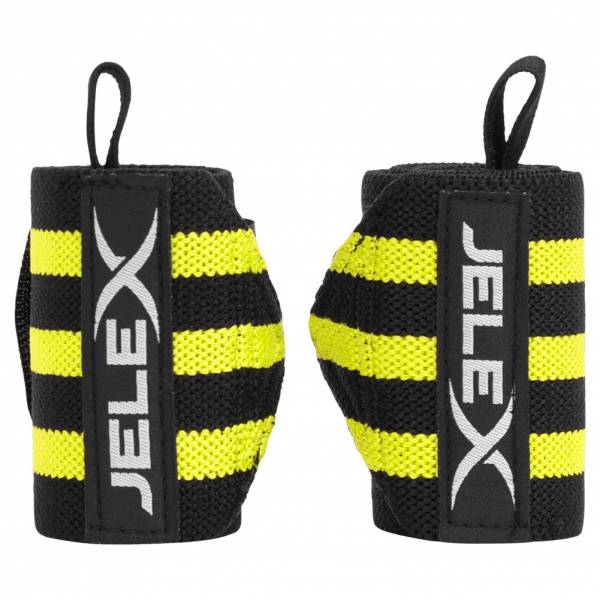 JELEX Strong Fitness Handgelenkbandagen schwarz-gelb
