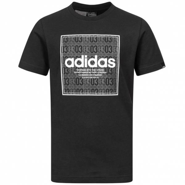 adidas QQR Box Linear Jungen T-Shirt GE5963
