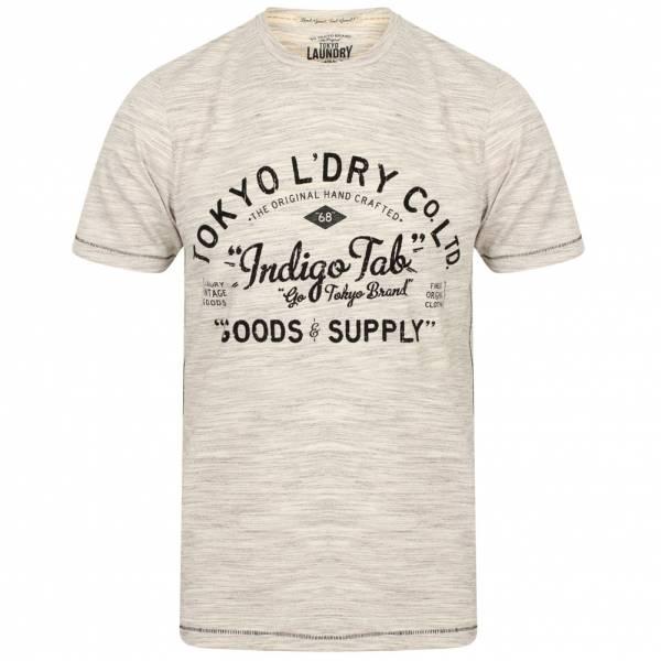 Tokyo Laundry Prestonburg Flocked Motif Herren T-Shirt 1C10893R Elephant