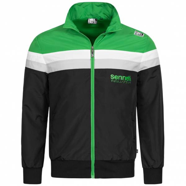 Sonneti Split Windrunner Men Jacket NTG00009-BLACK-GREEN