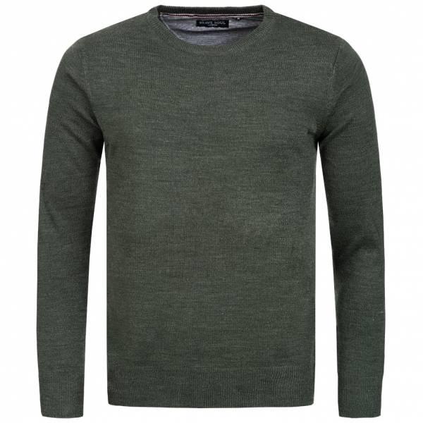 BRAVE SOUL Parsec Crew Neck Herren Sweatshirt MK-279PARSECX1 Khaki