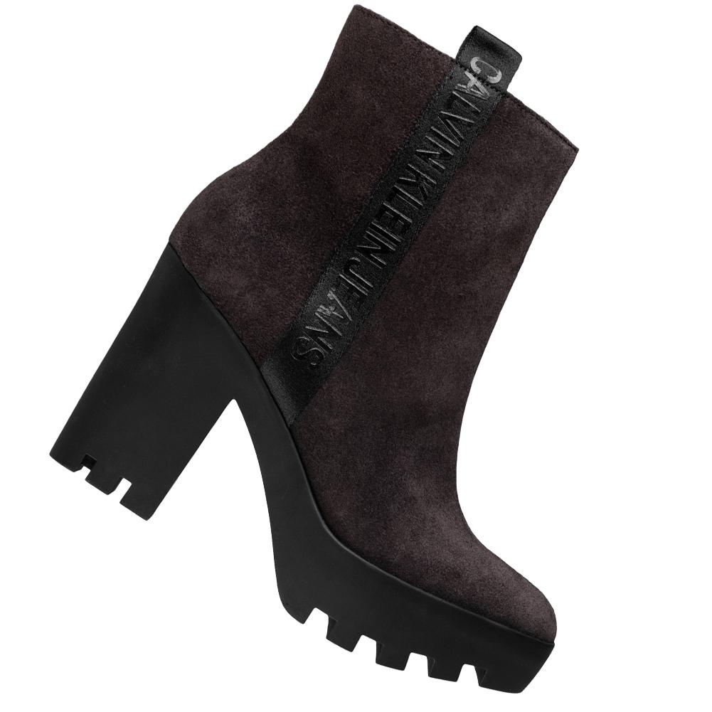 Calvin Klein Jeans Serina Damen High Heel Stiefeletten RE9768BRN