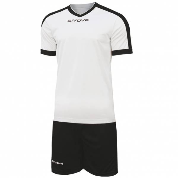 Givova Kit Revolution Football Jersey with Shorts black and white