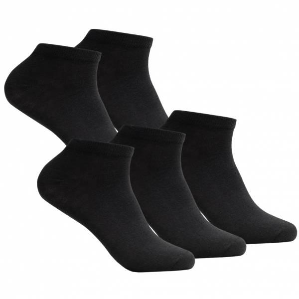 SportSpar Herren Sneakersocken 5 Paar 220383 Black