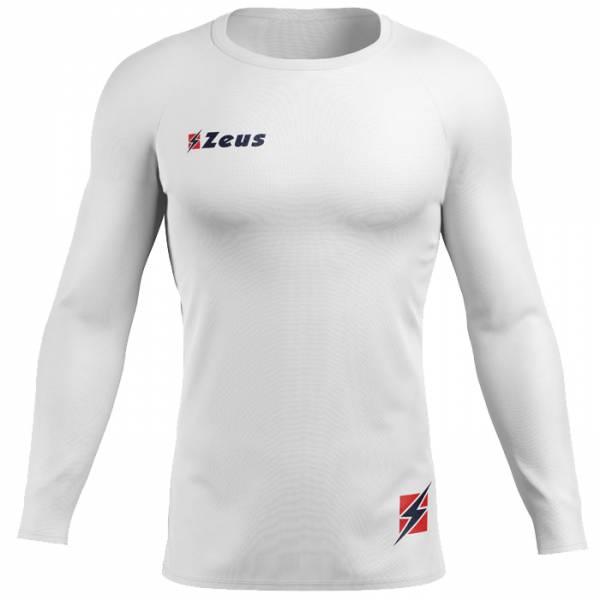 Zeus Fisiko Haut base-layer Haut de sport à manches longues blanc