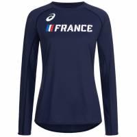 Frankreich ASICS Leichtathletik Damen Langarm Oberteil A17H26-52FR