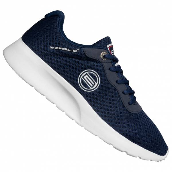 BASILE Marine Blanc Herren Sneaker BSS91500006