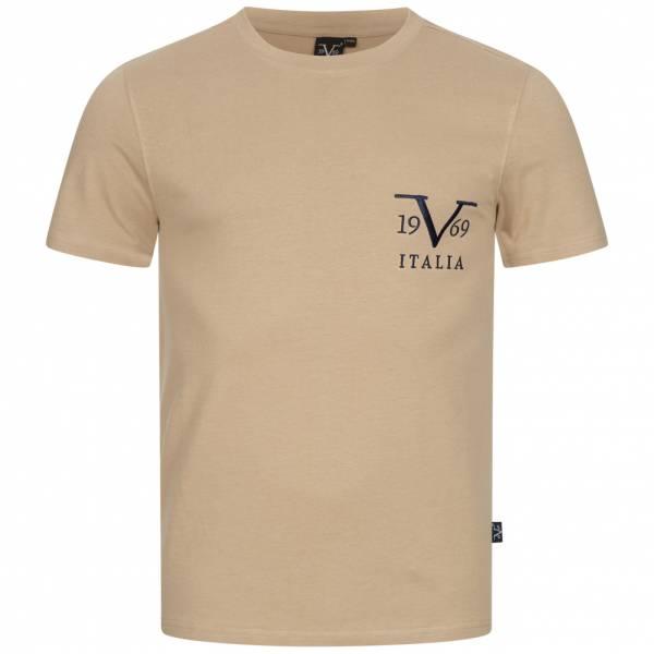 19V69 Versace 1969 Basic Big Logo Herren T-Shirt VI20SS0008B beige