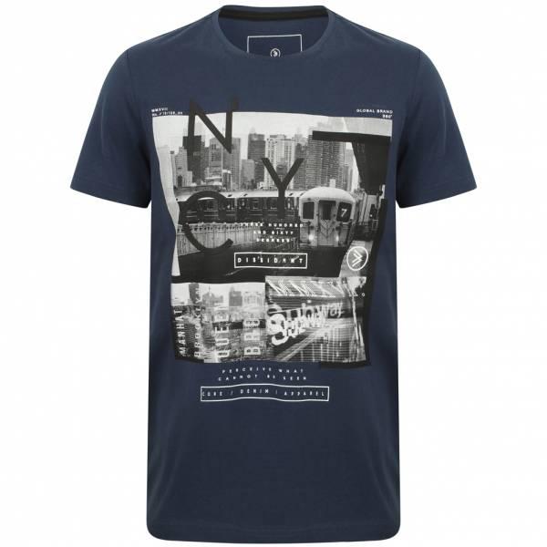 DNM Dissident Stations Hombre Camiseta 1C12386 Azul Sargazo