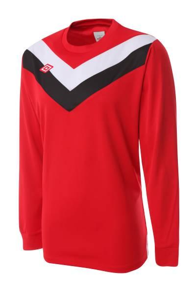 Umbro Chevron Jersey Fußball Trikot vermillion/schwarz/weiß
