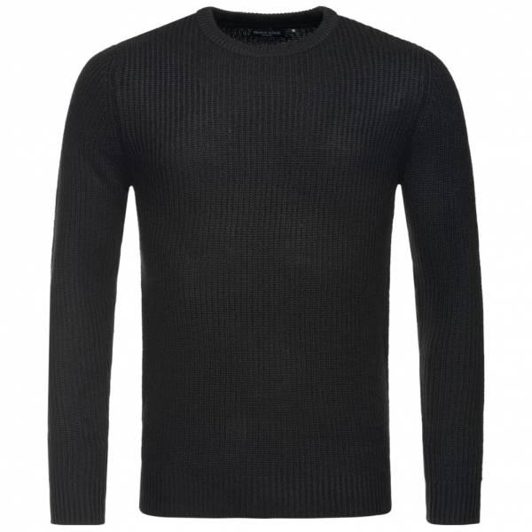BRAVE SOUL Fulton Rib Detail Herren Sweatshirt MK-230FULTONB Black