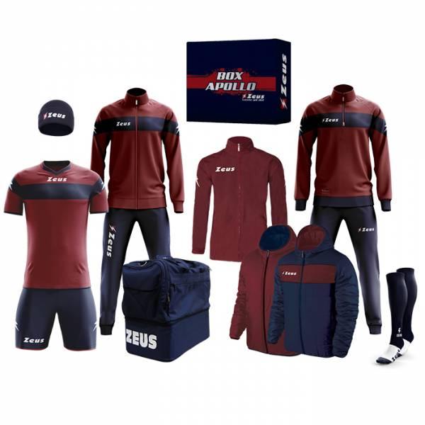 Zeus Apollo Fußball Set Teamwear Box 12-teilig Navy Dunkelrot