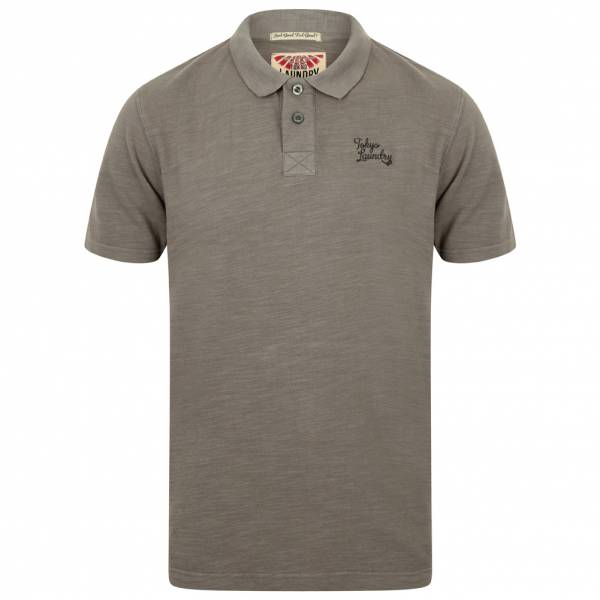 Tokyo Laundry Don Slub Pique Cotton Herren Polo-Shirt 1X10736 Eiffel Tower