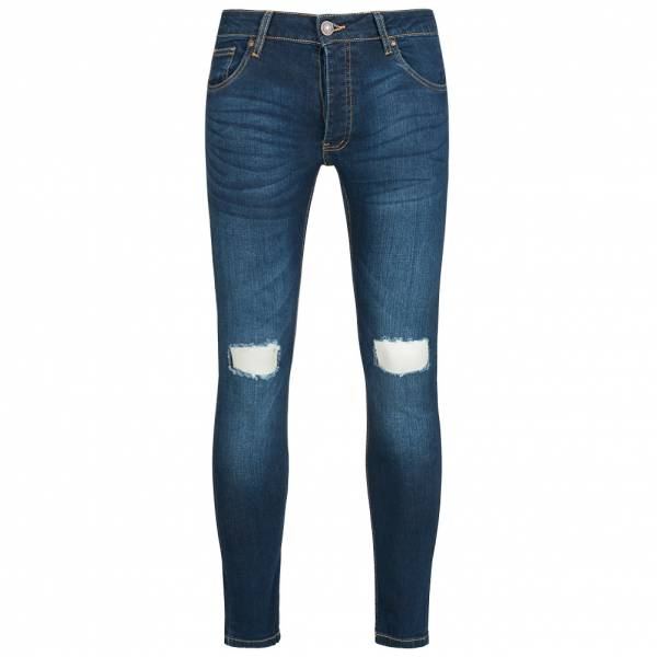 BRAVE SOUL Acton Stretch Skinny Hommes Denim Cut Out Jean MJN-ACTON