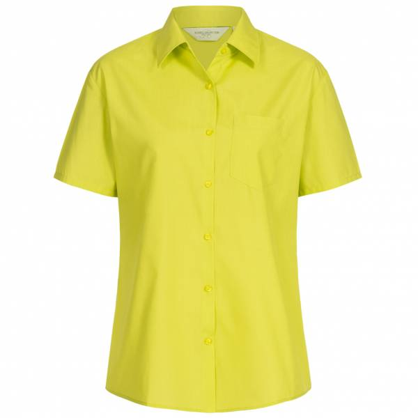 RUSSELL Short Sleeve Poly Cotton Poplin Damen Hemd 0R935F0-Lime