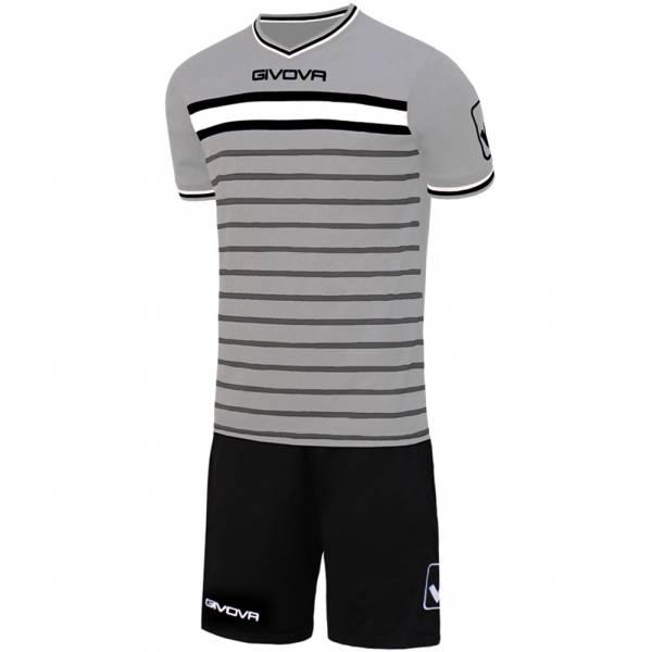 Givova Skill Voetbaltenue Shirt met Shorts lichtgrijs / zwart