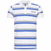 Lambretta Pique Stripe Herren Polo-Shirt SS7751-WHITE