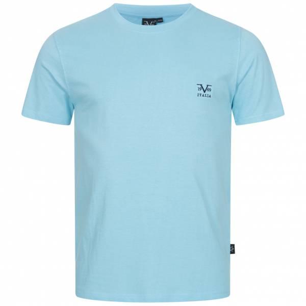 19V69 Versace 1969 Basic Logo Herren T-Shirt VI20SS0007B hellblau