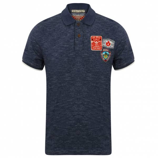 Tokyo Laundry Beauworth Herren Polo-Shirt 1X9936 Medieval Blue