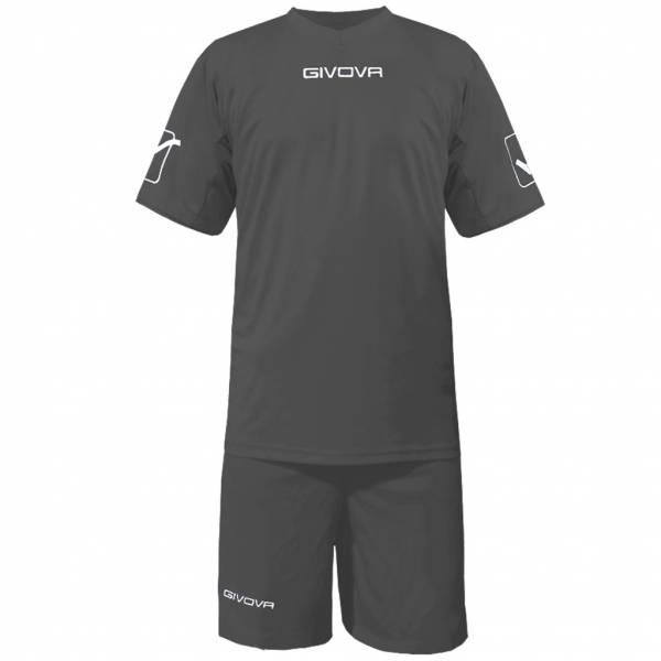 Givova Fußball Set Trikot mit Short Kit Givova grau
