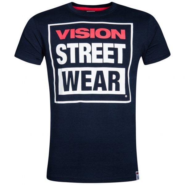 Vision Street Wear Herren Crew T-Shirt CM0245 navy