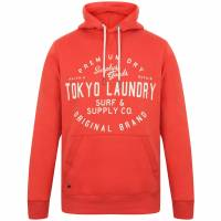 Tokyo Laundry Portopalo Herren Kapuzen Sweatshirt 1D12650 Emberglow Orange