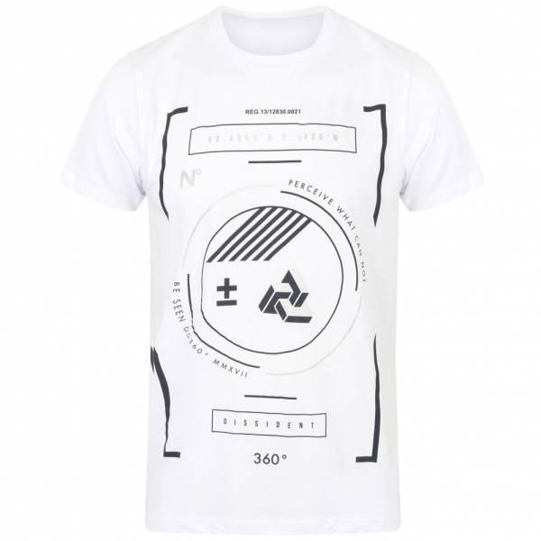Circulaire DNM Dissident Hommes Motif T-shirt 1C10810 Optic White