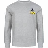 Lois Jeans Small Logo Herren Sweatshirt 3E-LSSRNM-SL-Light Grey