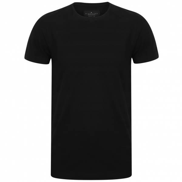 DNM Dissident Leake Herren gestreiftes T-Shirt 1C10436 Black