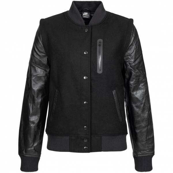 Nike NSW Destroyer Jacket Damen Leder Jacke 426818-010