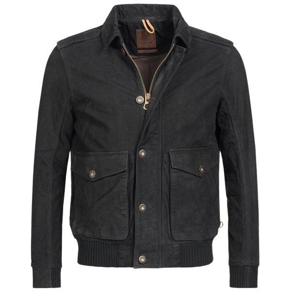 Timberland Tenon Leather Bomber Jacket Herren Lederjacke 7746J-001