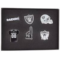 Oakland Raiders NFL Metall Pin Anstecker 6er-Set BDNFL6SETOR