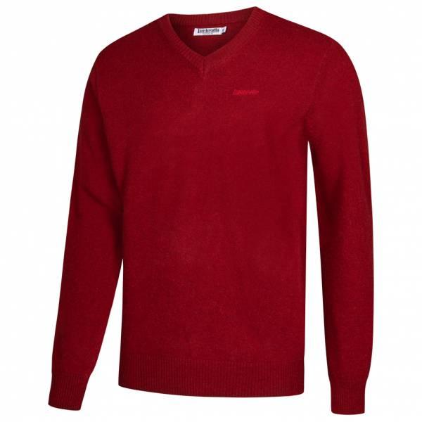 Lambretta Lambswool Sweater Herren Lammwolle Sweatshirt RWIK0045-MAROON