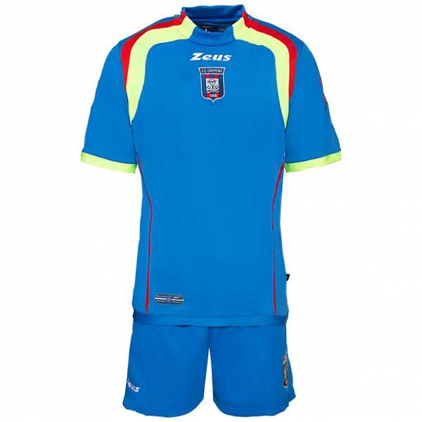 FC Crotone Zeus Herren Kurzarm Trikot-Set blau
