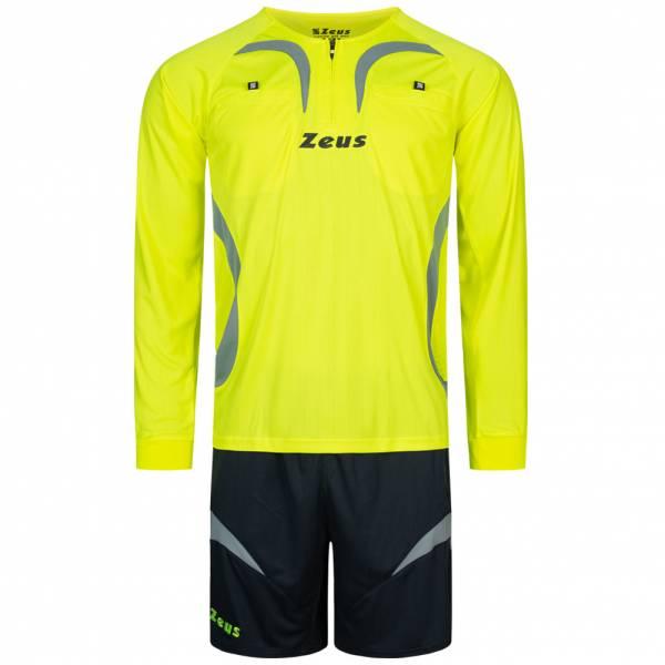 Zeus Herren Schiedsrichter Set Trikot mit Shorts Neon Gelb