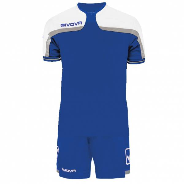Givova football set jersey with Short Kit America blue / white